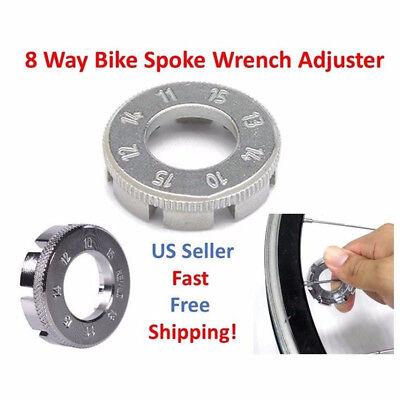 Bike Spoke Key Tool Spoke Adjuster Cycle Bicycle Wrench Spanner Wheel Rim Tight 12