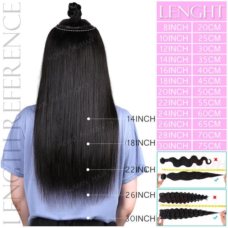 näher an Auf Abstand schnell verkaufend CLIP IN 100% Remy Echthaar Extensions Ein Tresse Dick Lang Glatt Billig  Haarteil