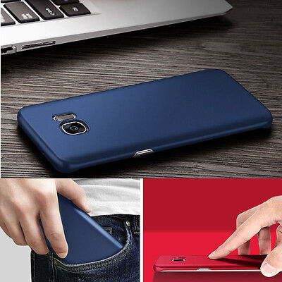 Ultra Thin Slim Matte Hard Back Case Cover For Samsung Galaxy S6 S7 Edge S8 Plus