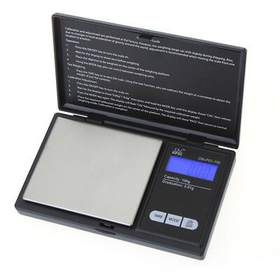 Peso bascula de precision balanza digital 0.01-100g profesional pilas incluidas