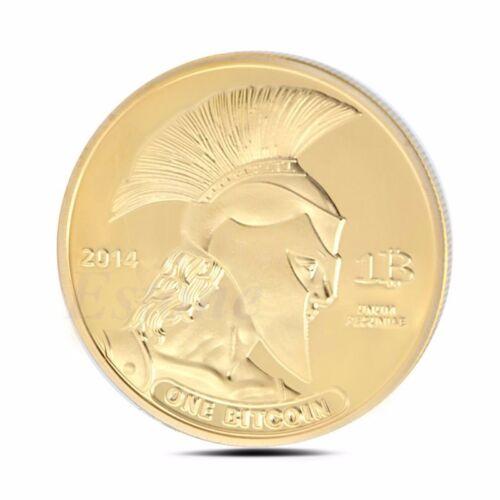 Gold Plated Titan Bitcoin Commemorative Coin BTC Collectible Collection Physica 6