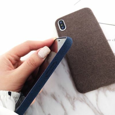 For iPhone XS Max XR X 6s 7 8 Plus Warm Fabric Soft Shockproof Matte Cover Case 4