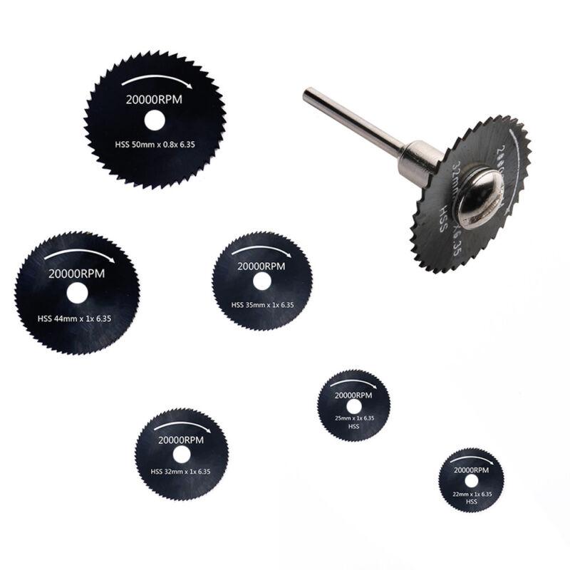 6X Hss Saw Disc Kit For Mini Drill Rotary Tool Cutting Wheel Discs Blade 22-50Mm 8