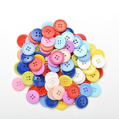 100 Stück Mischfarbe Tasten 4 Löcher Kinder DIY Handwerk 10mm 5 Größen BCDE 8