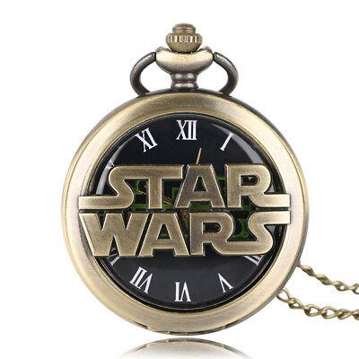Stars Wars Bronze Pocket Watch Walt Disney Darth Vader Retro Millenniun Falcon 2