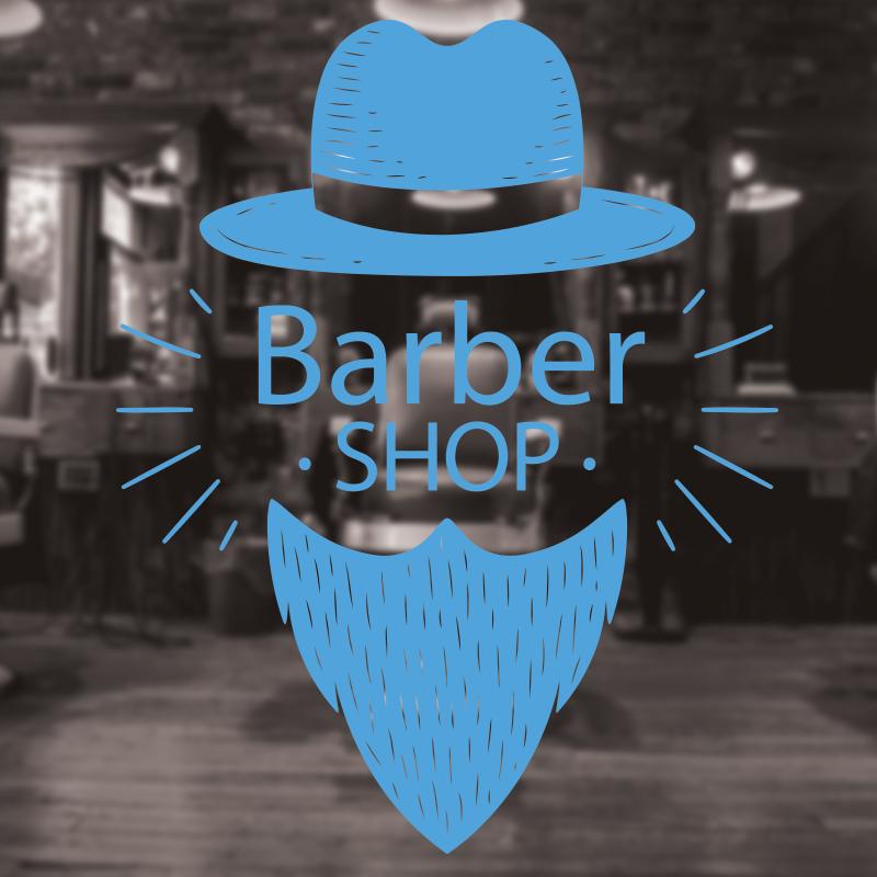 Barber Shop Sign, Barbershop window sign, hair salon window decal 5