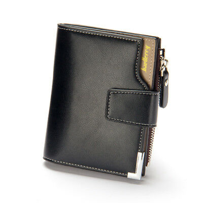 Men Leather Wallet ID Credit Card Holder Clutch Bifold Pocket Zipper Coin Purse 2