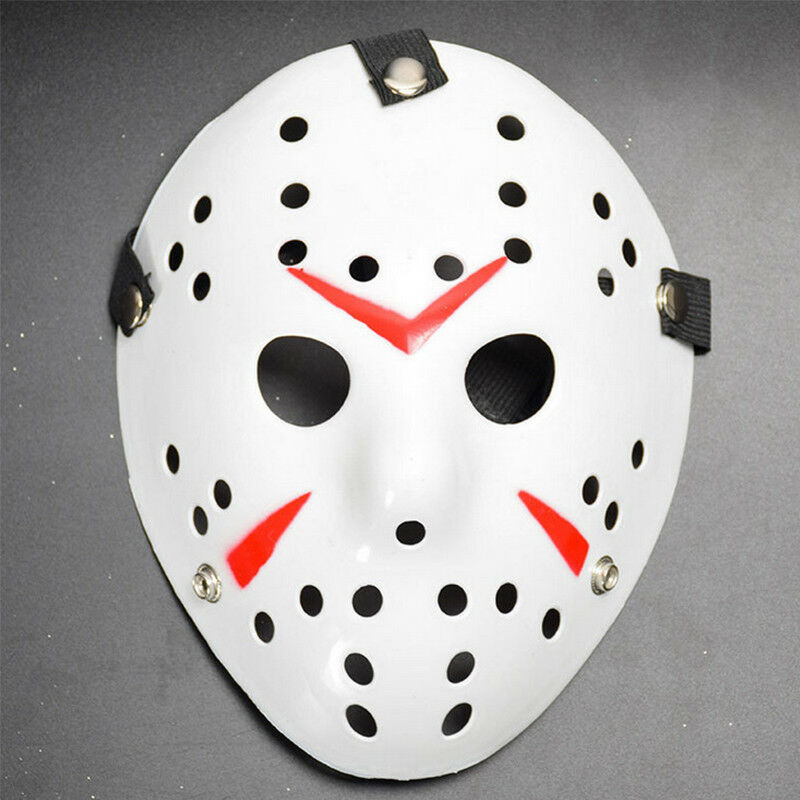 Jason Voorhees Freitag 13. Deluxe Halloween Horror Hockey Maske Cosplay Kostüm 3