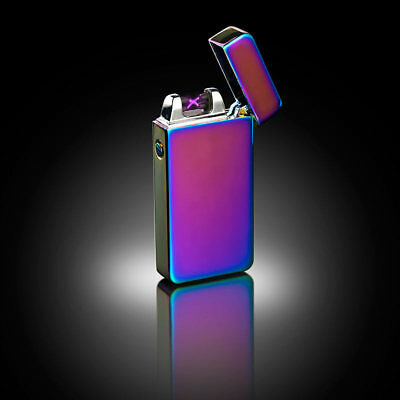 Elektronisches USB Feuerzeug mit doppelten Lichtbogen Akku USB Farbe goldfarben