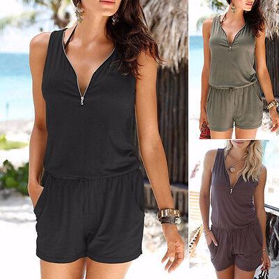 ... femme vacances mini combi-short combinaison été robe de plage Court  pantalon 9 cb5c6d0bca8