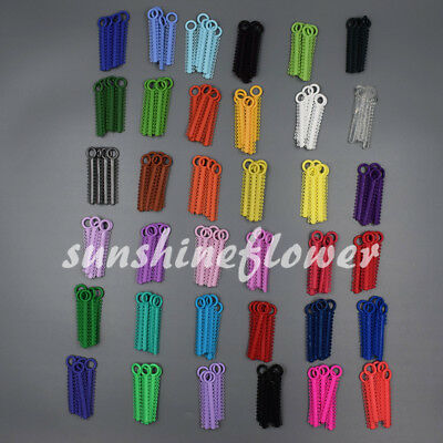 1040x Dental Orthodontic Elastic Braces Rubber Ligature Ties O Rings 37 Colors 2
