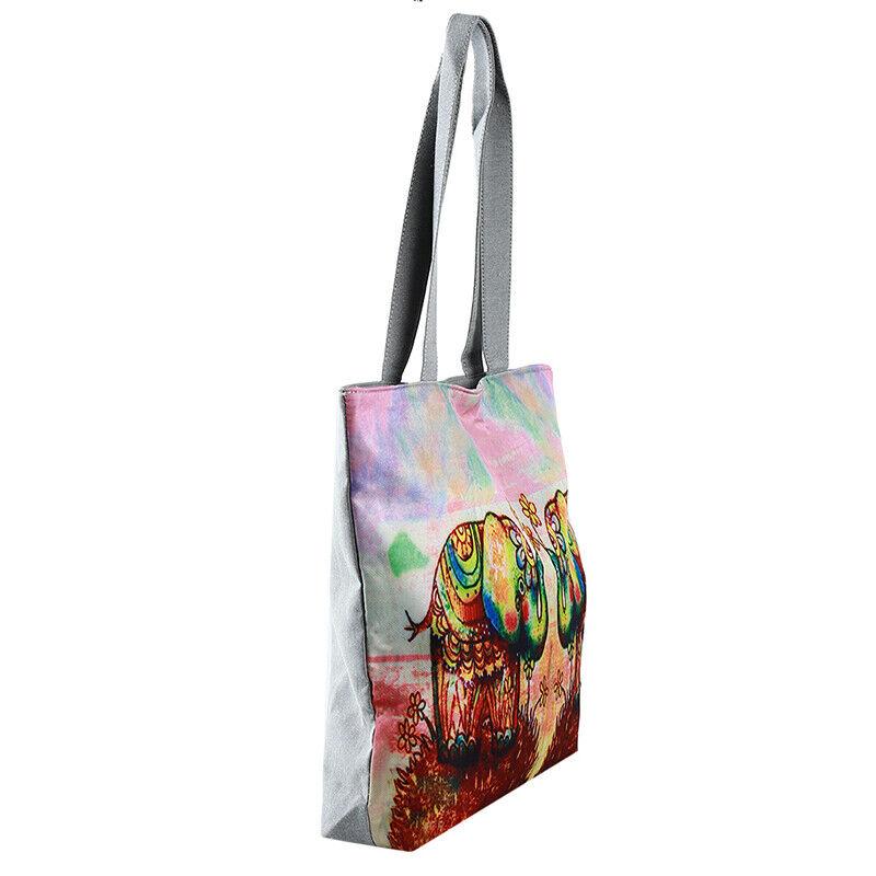 Handbag Elephant Printed Tote Casual Beach Bags Shoulder Shopping Casual JJ 8