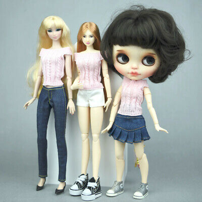 """Blue Jeans Casual Wear Clothes For 11.5"""" Doll Kids Toy A-line Skirt For 1/6 Doll 2"""