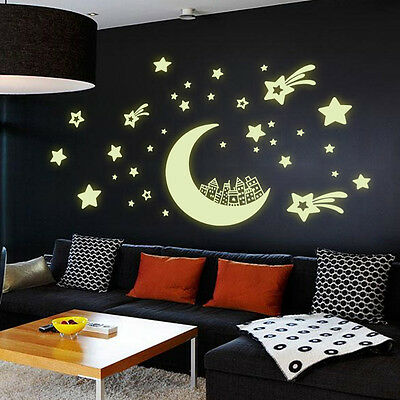 QT-0085 Glow in the dark home decor wall sticker decals kids baby gift DIY 2