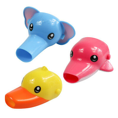 Animals Faucet Extender Kids Happy Fun Tubs Baby Hand Washing Bathroom Sink New 3