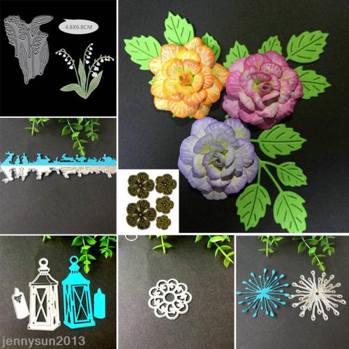 Metal Flowers Frame Cutting Dies DIY Scrapbooking Album Die Cuts - 17 CHOOSE 4