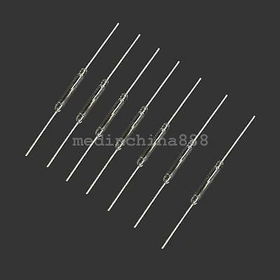 100pcs Magnetic Reed Switch Glass N//O Low Voltage Current 2*14 mm Normal Open CE