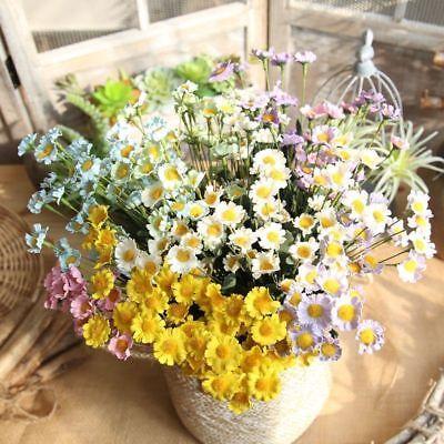 100pcs Silk Artificial Gerbera Daisy Chrysanthemum Flowers Sunflower Head DIY 3