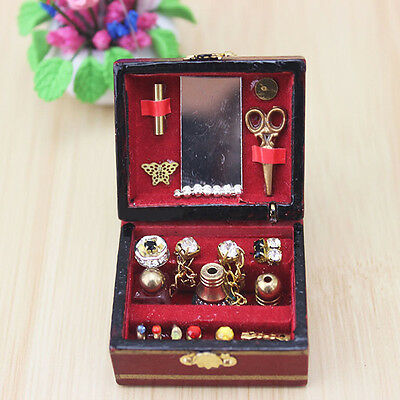 1/12 Dollhouse Miniatures Jewelry Box /Doll Room Decor House Accessory 4
