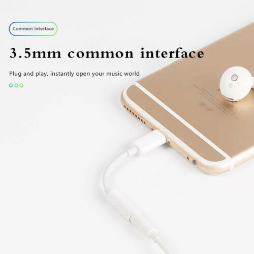 For iPhone 8 7 P X XR 3.5mm Headphone Audio Jack Aux Earphone Adapter Cable Cord 3