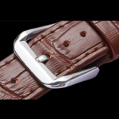 Mens Genuine Leather Watch Strap Band  Black Brown 14mm 16mm 18mm 20mm 22mm 24mm 9