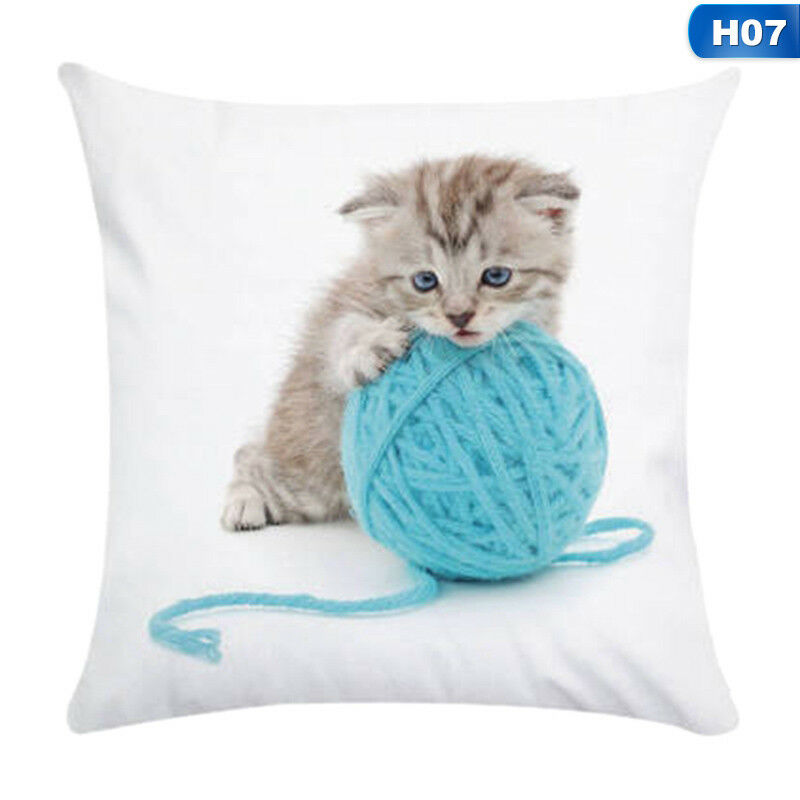 1X Animal Cute Cat Pillow Case Pet Cushion Cover For Home Pillowcase Decorations 8
