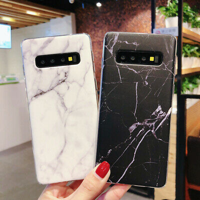 For Samsung Galaxy S10+ S10e S9 S8 Matte Marble Pattern Soft Silicone Case Cover 2