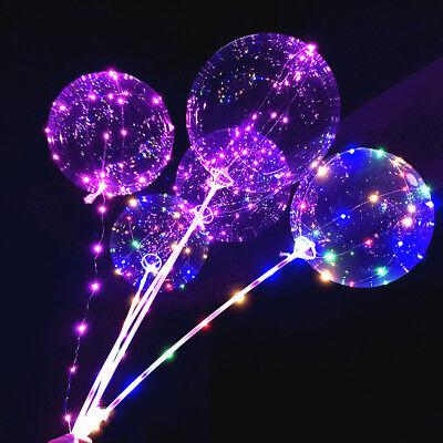 LED Light  Transparent Balloon Wedding Birthday Xmas Party Lights Decoration 6