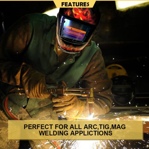 Pro Solar Auto Darkening Welding Helmet Arc Tig Skull Mask 7