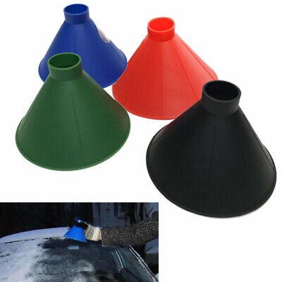 Magical Car Windshield Ice Snow Remover Scraper Cone Shaped Round Funnel Plastic 4
