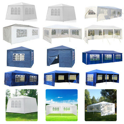 New 3X3m/4m/6m Waterproof Garden Gazebo Party Tent Marquee Awning Canopy Shelter 2
