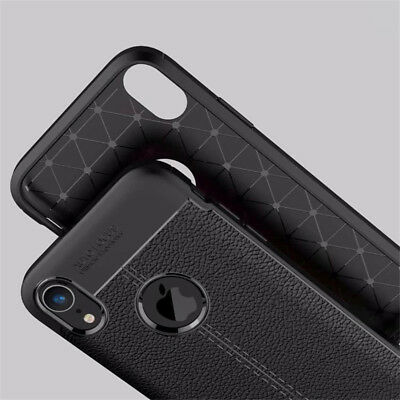 For iphone Xs Max Xr X 8 7 6S Silicone Rubber TPU Leather Slim Back Cover Case 11