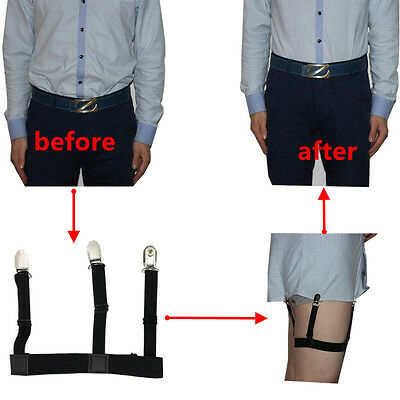 2pcs Mens Stays Holders Elastic Shirt Garter Non-Slip Locking Clamps Uniform HOT