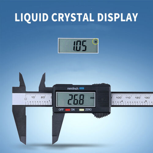 "6 "" LCD Digital Elektronisches Messgerät Edelstahl Vernier Bremssattel Lineal 1x"