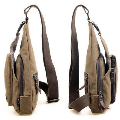 Men's Small Chest Sling Bag Travel Hiking Cross Body Messenger Shoulder Backpack 7