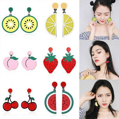 Fashion Women Delicious Fruit Acrylic Pendant Dangle Ear Studs Earrings Jewelry 2