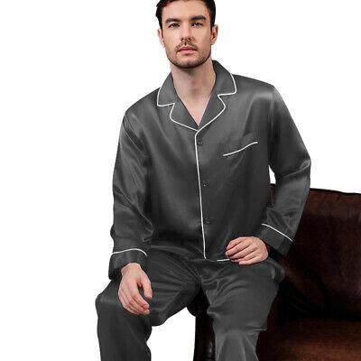 Mens Silk Satin  Pajamas - PJ Set  Top and Bottom 3