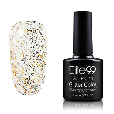 Elite99 Diamond Esmalte Semipermanente Glitters Uñas en Gel UV LED Top Base Coat 12