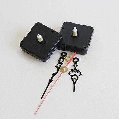 Black Quartz Clock Movement 3 Pointers Mechanism Repair DIY Tool Kit + Red Hand 3