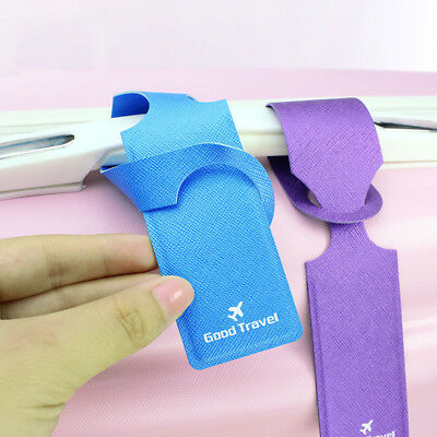 Travel Clear PU Luggage Tag Easy to Baggage Claim Strong Practicability