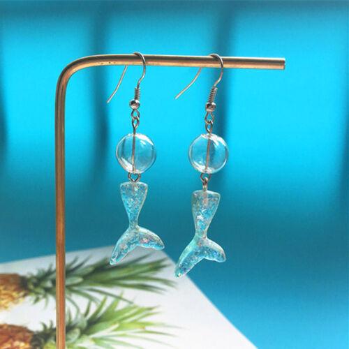 Handmade Drop Dangle Earring Mermaid Fish Tail Ear Stud Earring Woman Jewelry VH