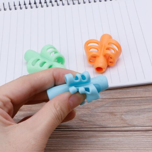 3Pcs Two-finger Grip Silicone Baby Pencil Holder Writing Learn Tools Writing Pen 5