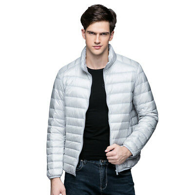 US FACTORY SALES Men's Down Jacket Ultralight Stand Collar Outerwear Coat Puffer