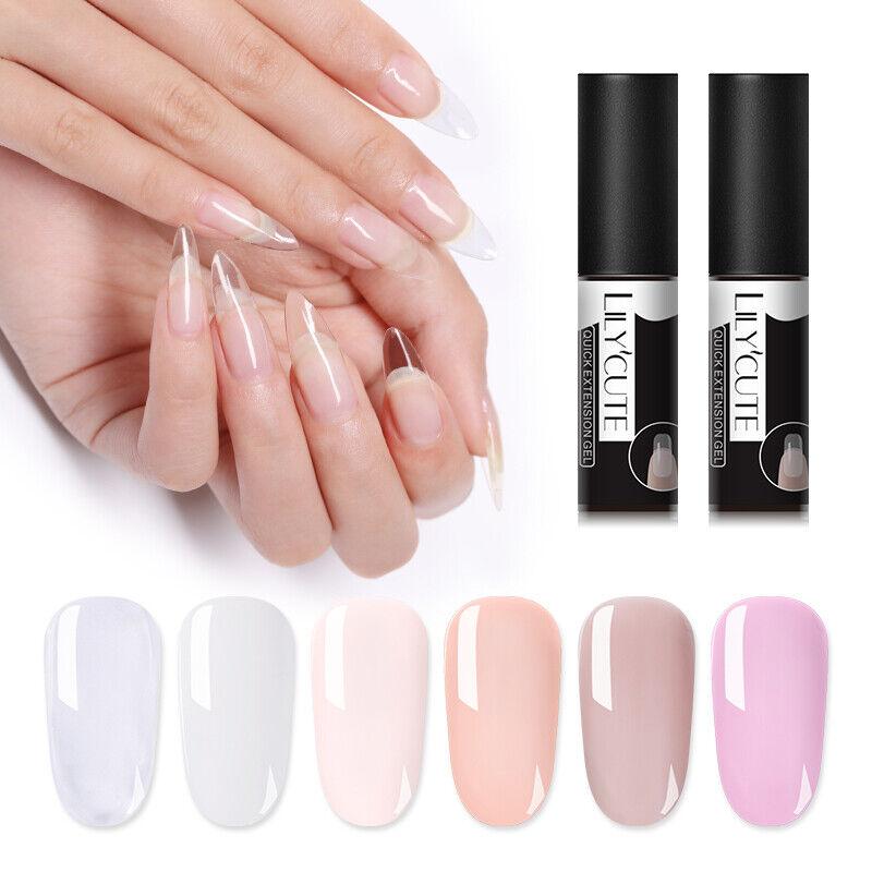 LILYCUTE Quick Extension UV Gel Nail Art Semi Permanent Vernis à ongles Tools 8