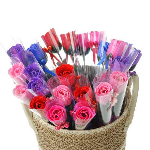 5pcs Artificial Rose Flower Bath Body Soap Petal Wedding Christmas Gift Decor