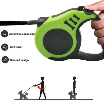 Dog Leash Retractable Walking Collar Automatic Traction Rope Small Pet 10FT 16FT 5
