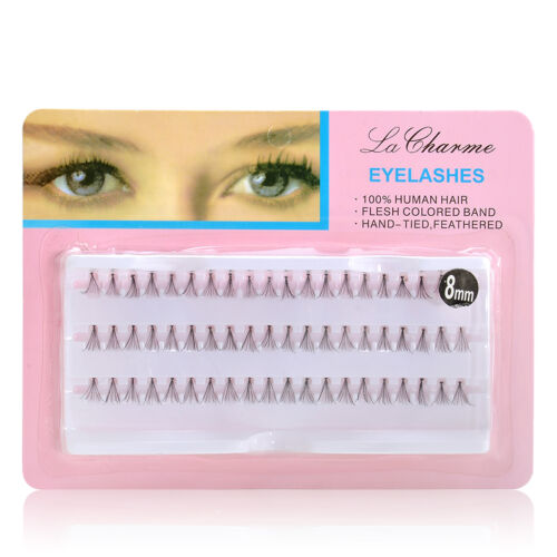 8117b9fb4a6 8/10/12/mm Makeup Individual Cluster Eyelashes False Eye Lashes Extension  Long 7 7 of 10 ...