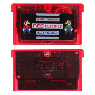 150 Games in 1 GBA NES Classics Game Boy Advance Multicart save Zelda Mario 2