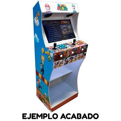 """Kit Mueble Bartop Light Arcade Recreativa Con Pedestal Max 25"""" De Pantalla 7"""