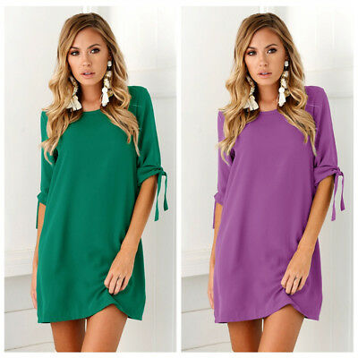 Sexy Womens Plus Size Long T-shirt Ladies Casual Party Mini Dress Blouse Tops 4